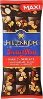 Фото Millennium черный Fruits & Nuts с миндалем, цельными лесными орехами, апельсиновыми цукатами и изюмом 140 г