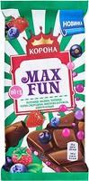 Фото Корона молочный Max Fun фруктово-ягодный 160 г
