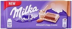 Фото Milka молочный с кремово-миндальной начинкой 90 г