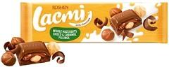 Фото Roshen молочный Lacmi с лесным орехом и шоколадно-карамельной начинкой 295 г