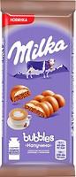 Фото Milka молочный пористый Bubbles со вкусом капучино 97 г