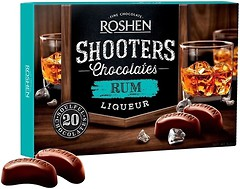 Фото Roshen Шоколадные конфеты Shooters с ромовым ликером 150 г