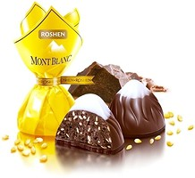 Фото Roshen Шоколадные конфеты Монблан с шоколадом и сезамом 800 г