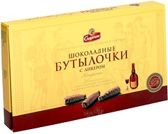 Фото Спартак Шоколадные бутылочки с ликером 168 г