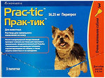 Фото Novartis Капли Prac-tic для собак 2-4.5 кг 1 шт.