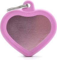 Фото MyFamily Адресник Hushtag Сердце pink (HTA02PINK)
