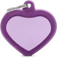 Фото MyFamily Адресник Hushtag Сердце purple (HTA02PURPLE)