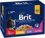 Фото Brit Premium Cat Pouch Family Plate Gravy 1.2 кг