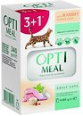 Фото Optimeal For Adult Cats With Rabbit in white sauce 4x85 г