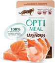 Фото Optimeal For Adult Cats With Salmon & Shrimps in sause 85 г